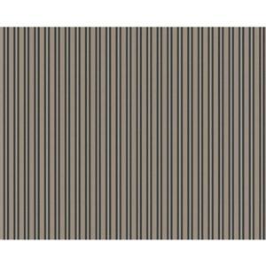 Striped Textured Wallpaper - Light Brown/Black