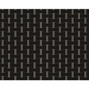 Modern Striped Embossed Wallpaper - Black