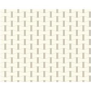 Modern Striped Embossed Wallpaper - Cream