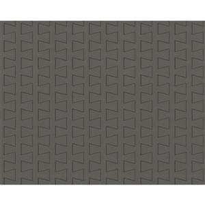A.S. Creation Modern Striped Embossed Wallpaper - Grey