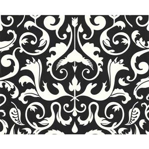 A.S. Creation Modern Striped and Circle Wallpaper Roll - Black