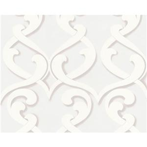 A.S. Creation Modern Striped and Circle Wallpaper Roll - Cream