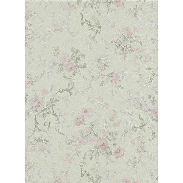 Erismann Romantic Renaissance Damask Wallpaper Roll - Cream