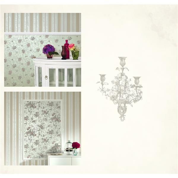 Romantic Renaissance Damask Wallpaper Roll - Cream