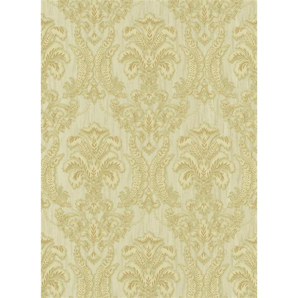 Romantic Renaissance Damask Wallpaper Roll - Cream