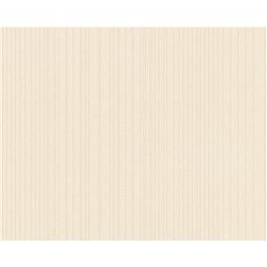Striped Floral Decorative Wallpaper Roll - Caramel