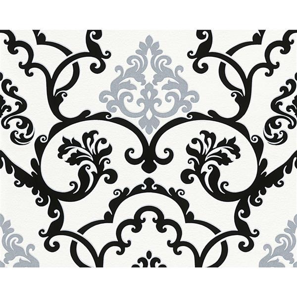 A.S. Creation Modern Decorative Wallpaper Roll - Black/White/Grey