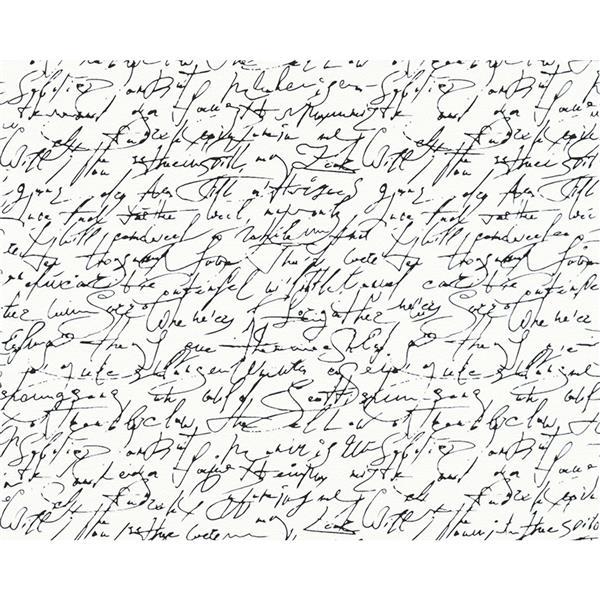 A.S. Creation Modern Writing Wallpaper Roll - Black/White