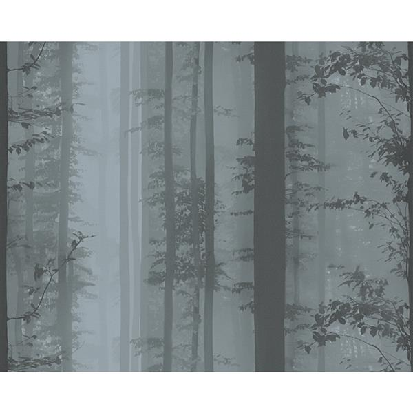 A.S. Creation Decorative Forest Wallpaper Roll - Black/Grey
