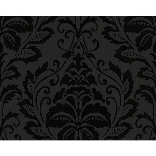 A.S. Creation Modern Decorative Damask Wallpaper Roll - Black