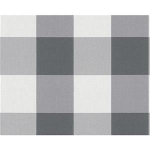 Modern Decorative Wallpaper Roll - Black/White/Grey
