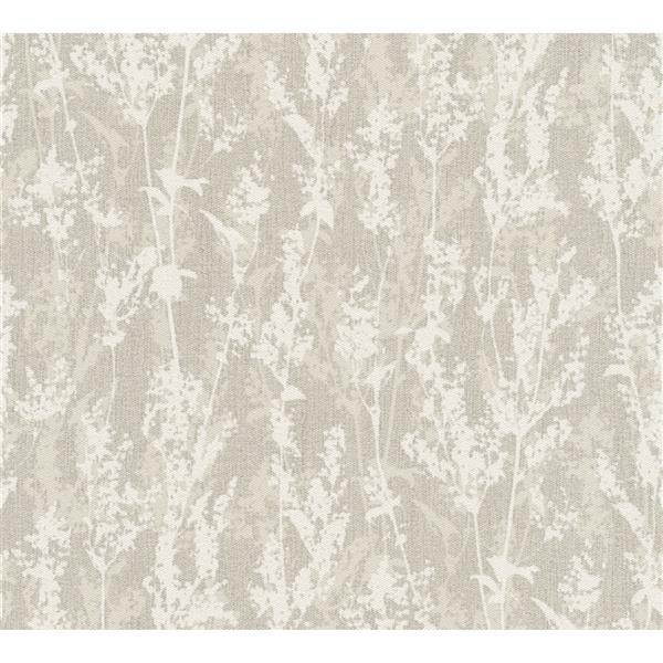 A.S. Creation Borneo Collection Wallpaper Roll - Leafy Design - Beige