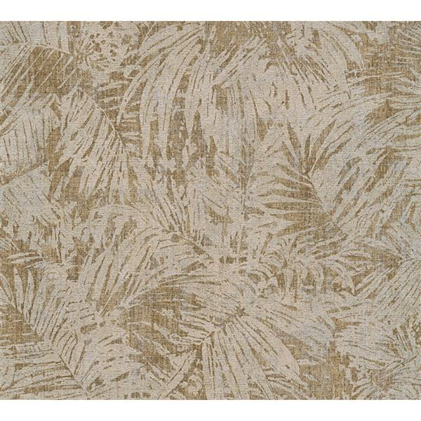 A.S. Creation Borneo Collection Wallpaper Roll - Exotic Tropical Design - Beige