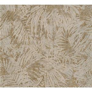 Exotic Tropical Wallpaper Roll - Beige