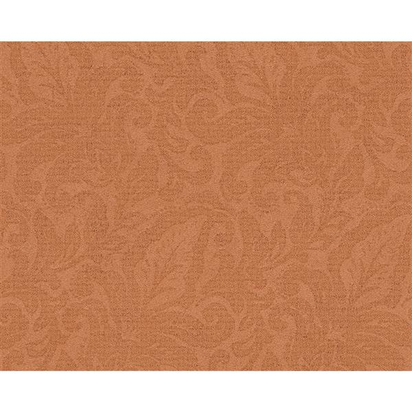 A.S. Creation Bohemian Burlesque Wallapper Roll - 21-in - Orange Floral Pattern