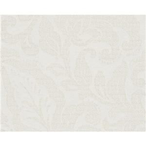 A.S. Creation Bohemian Burlesque Wallpaper Roll - 21-in - White Damask Pattern