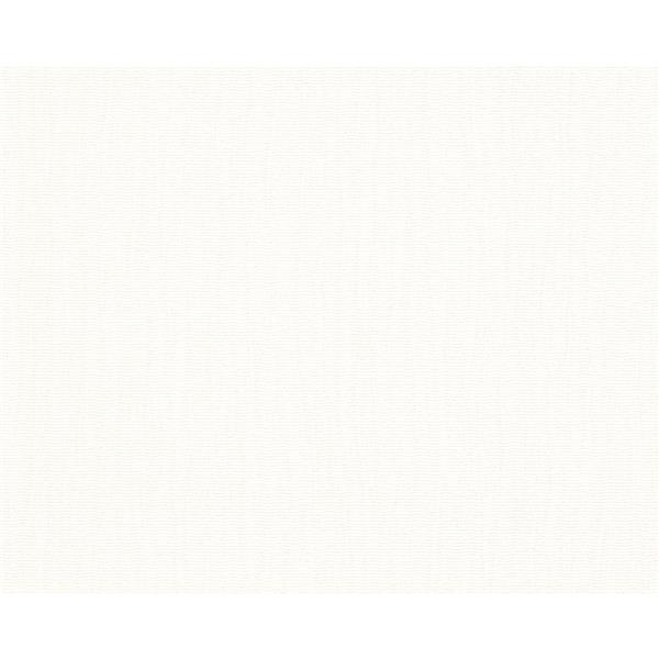 A.S. Creation Blanc Collection Wallpaper Roll - Linen Design - White