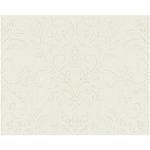 Decorative Elegant Wallpaper Roll - Cream