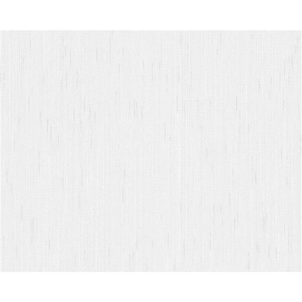 A.S. Creation Blanc Collection Wallpaper Roll - Linen Design - Light Grey
