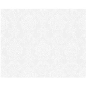 Decorative Elegant Wallpaper Roll - White
