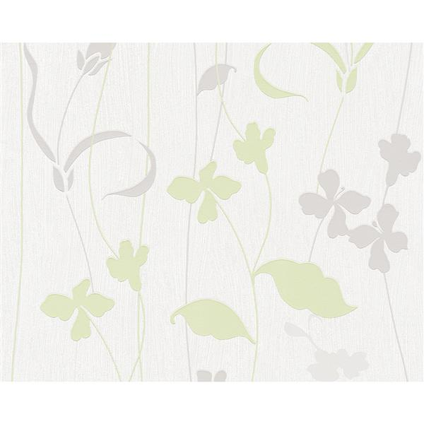 A.S. Creation Best Of Vlies Wallpaper Roll - Floral - Beige/Green