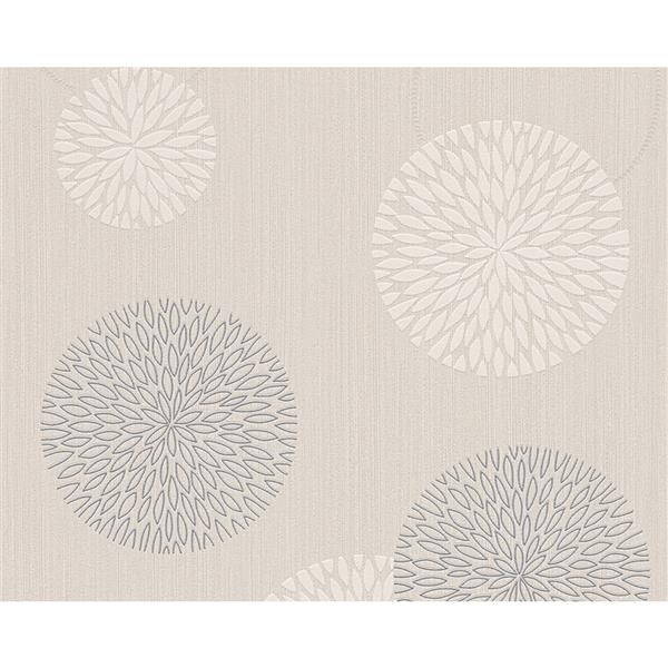 A.S. Creation Modern Floral Geometric Wallpaper Roll - Cream