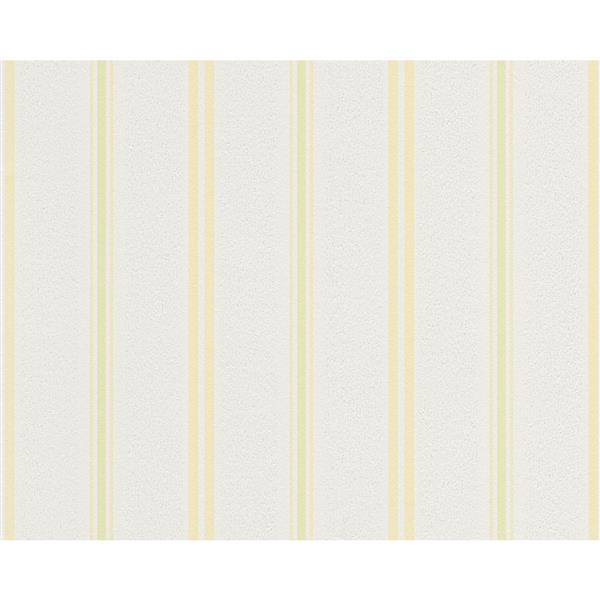 A.S. Creation Modern Floral Striped Wallpaper Roll - Grey