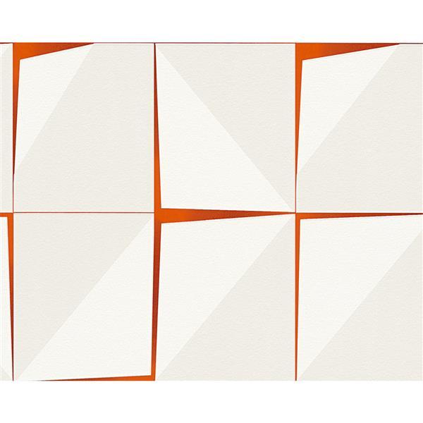 A.S. Creation Vintage Decorative Wallpaper Roll - White/Orange