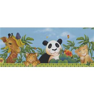 Retro Art Kids Animal Wallpaper Border - Multicoloured