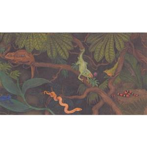 Retro Art Kids Jungle Wallpaper Border
