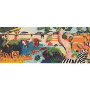 Retro Art Cartoon Jungle and Animals Wallpaper Border
