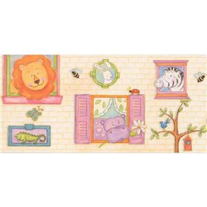 Retro Art Cartoon Animals Wallpaper Border