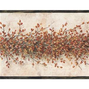 York Wallcoverings Berry Wallpaper Border - Multicoloured