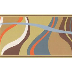 Retro Art Abstract Waves Wallpaper Border - Multicoloured