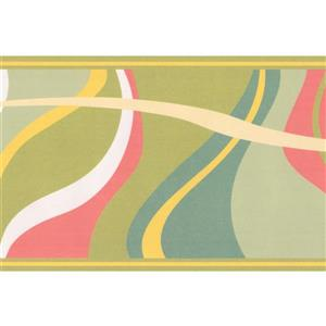 Abstract Waves Wallpaper Border - Multicoloured