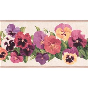 York Wallcoverings Floral Wallpaper Border - Multicoloured