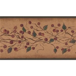 York Wallcoverings Plum and Berries on Vine Wallpaper Border