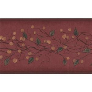 York Wallcoverings Retro Berries on Vine Wallpaper Border