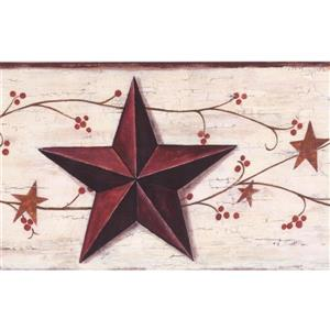 York Wallcoverings Vintage Star and Berries Wallpaper Border