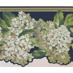 York Wallcoverings Garden Flowers Wallpaper Border - White
