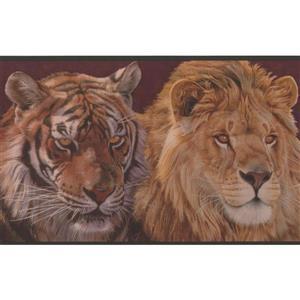 Retro Art Animal Wallpaper Border - Multicoloured