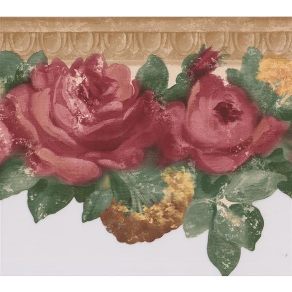 Red Rose Wallpaper Border 5507100