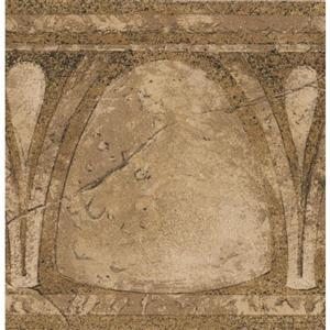 Norwall Vinatge Abstract Wallpaper Border - Brown/Beige