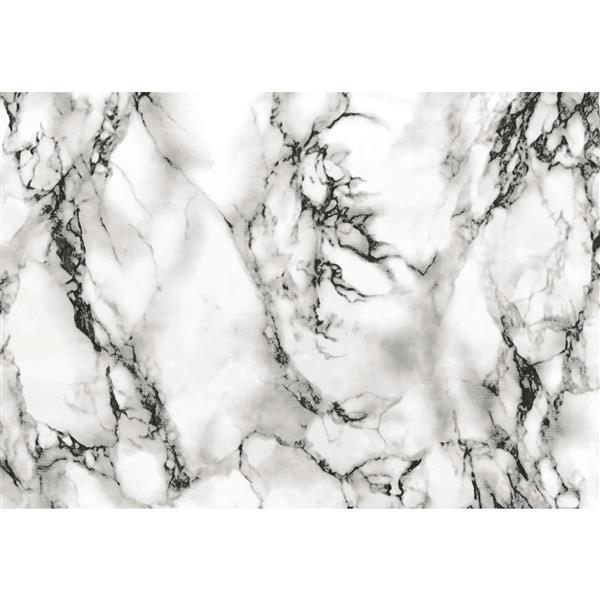 "Film autocollant, 17 ""x 78"", marbre blanc"
