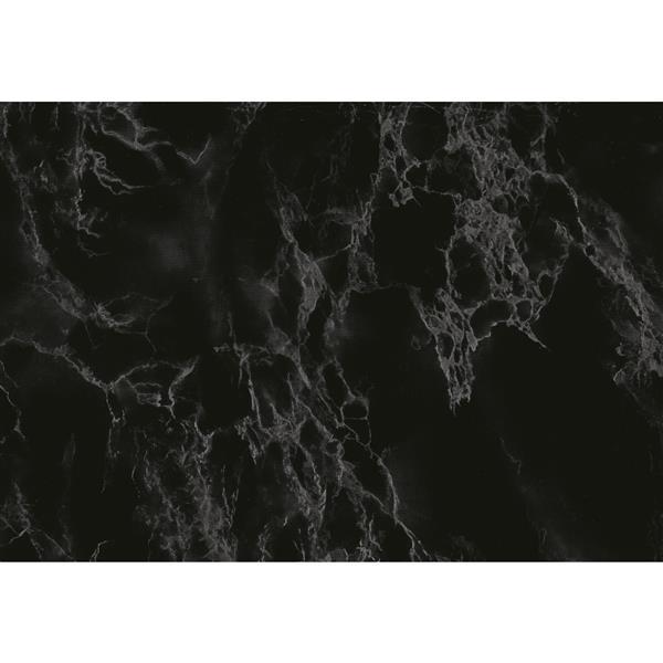 """Film autocollant, 26 """"x 78"""", marbre noir"""