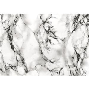 "Film autocollant, 26 ""x 78"", marbre blanc"