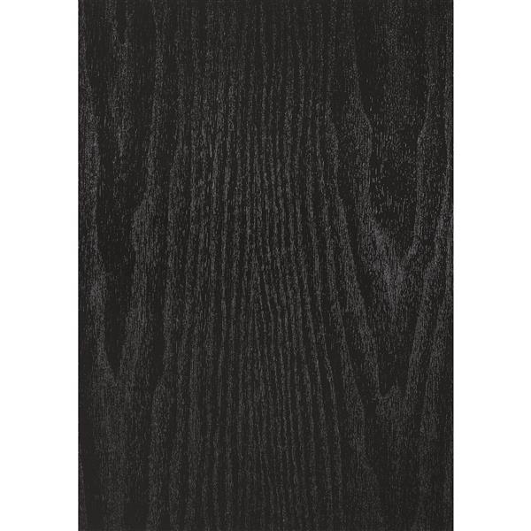 Film autocollant, 17-po x 78-po, bois noir
