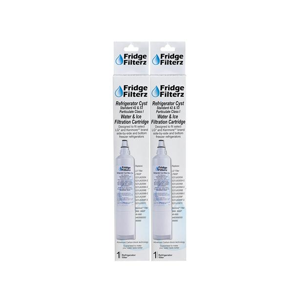 FridgeFilterz Refrigerator Water Filter for LG & Kenmore (2 Pack)