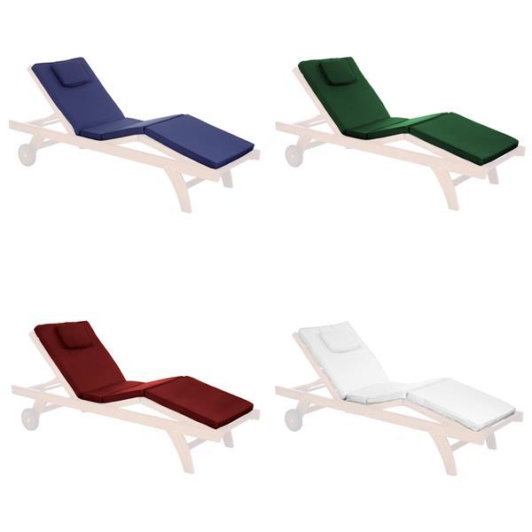 Coussin de chaise longue pour le patio, Rouge