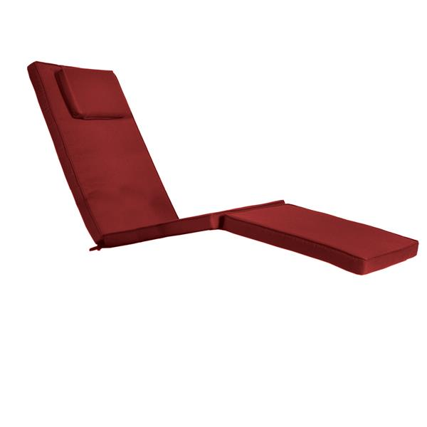 Coussin pour chaise longue inclinable, Rouge